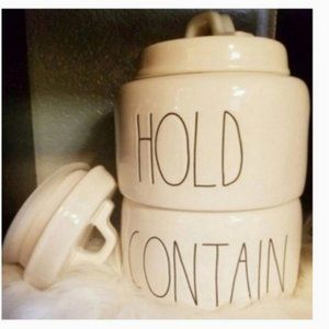 Rae Dunn HOLD CONTAIN Jars Containers Home Decor